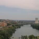 L'Ebre al pas per Ascó i la central nuclear