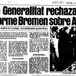 article El Periódico 2-nov-1983 Informe Bremen