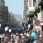 Mani contra PHN, Barcelona 10-març-02