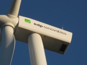 Peça superior d'un aerogenerador de la companyia EDP Renovables