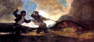 Duelo a garrotazos (1820-1823) Goya