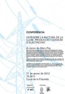 Conferència sobre la producció i el consum d'electricitat
