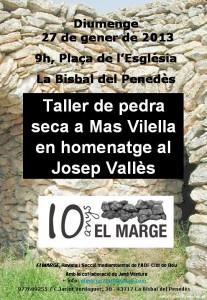Homenatge Valles Reconstrucció Pedra 2013