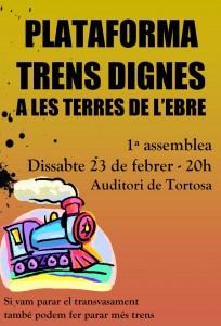 Cartell assemblea Trens Dignes