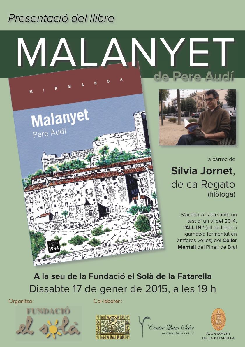 Cartell de la presentació del llibr Malanyet