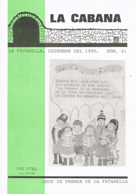 Revista local La Cabana núm. 61 – Desembre del 1990. Arxiu pdf