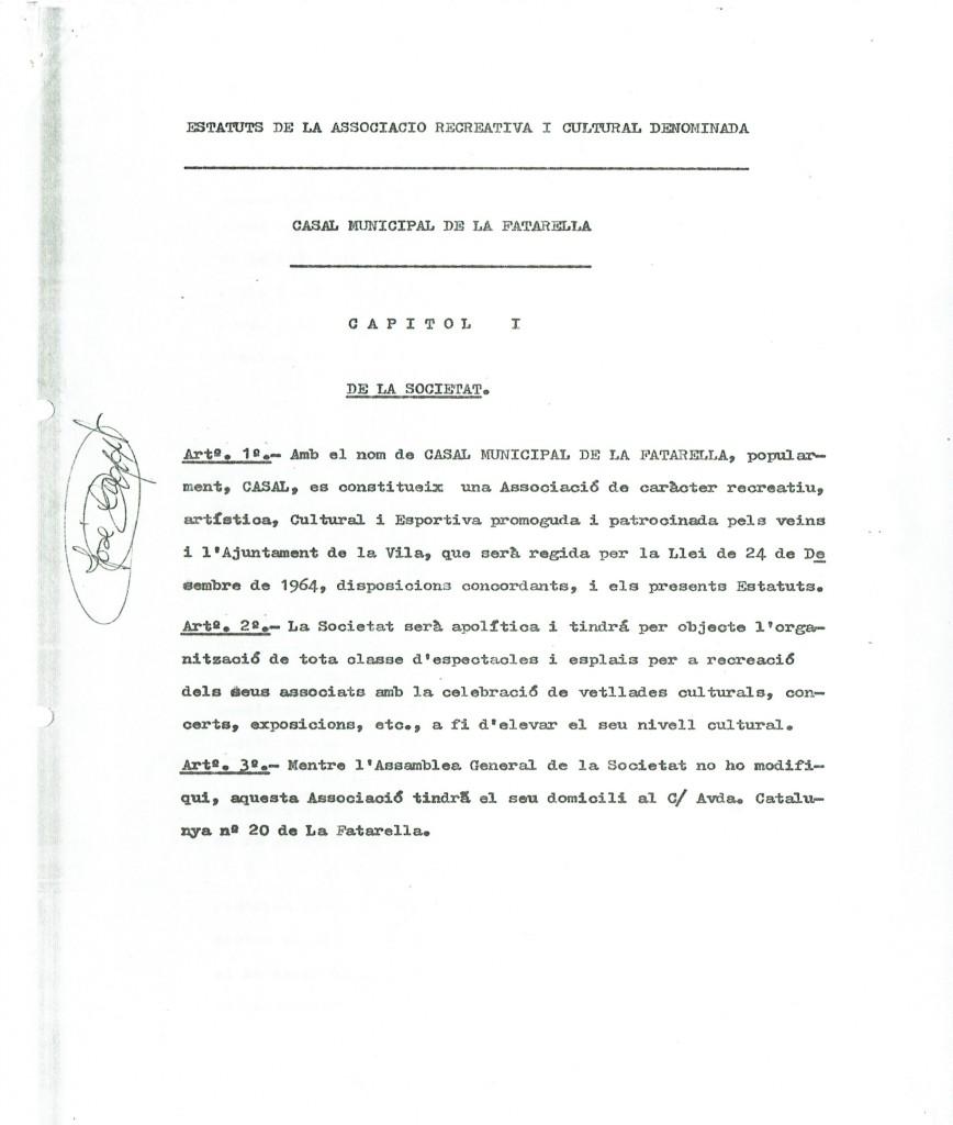 1a pàgina estatuts aprovats